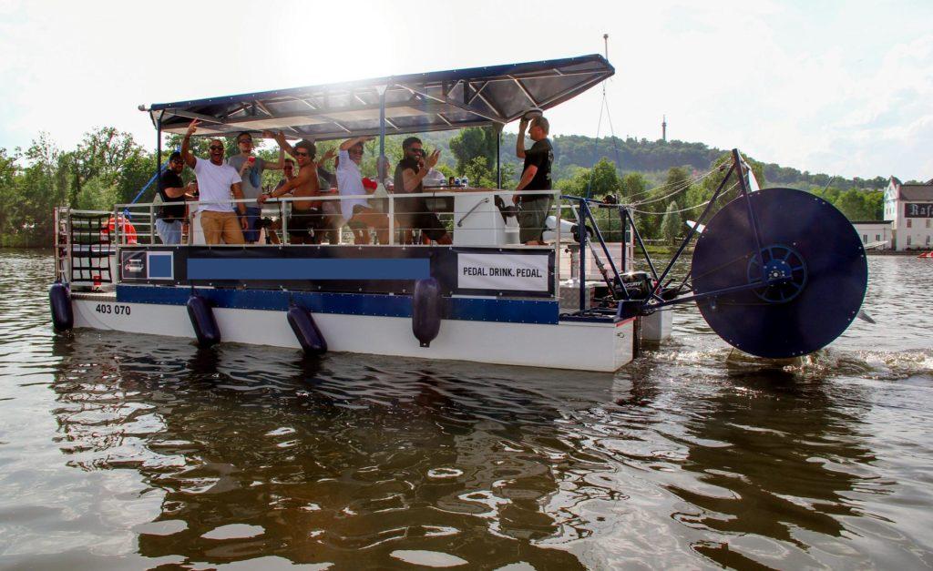 stag weekends in prague beer bike boat 1