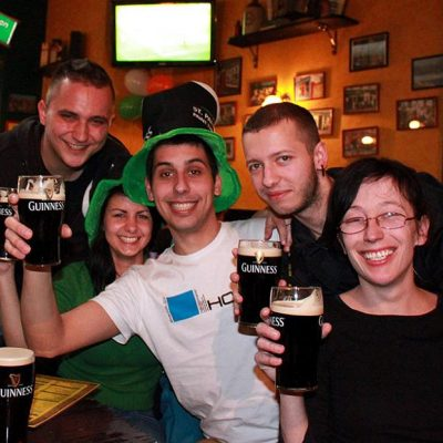 St Patricks Day in Prague
