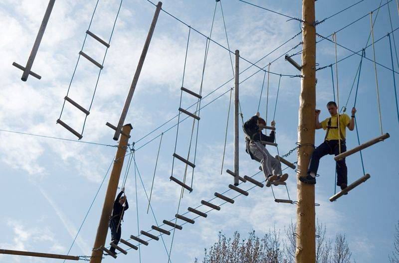 Prague High Ropes Activity